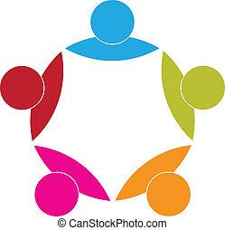 El concepto de icono de socios de negocios de Logo