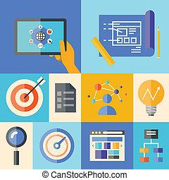 El concepto de ilustración de desarrollo Web