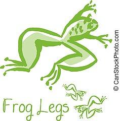 El concepto de ilustración de la comida francesa. Vector de animales verdes. Dibujo de cocina gourmet