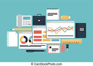El concepto de ilustración de la productividad empresarial