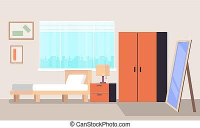 El concepto de interior de la habitación. Diseño gráfico de diseño gráfico Vector plana ilustración aislada