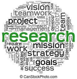 El concepto de investigación en la nube de palabras