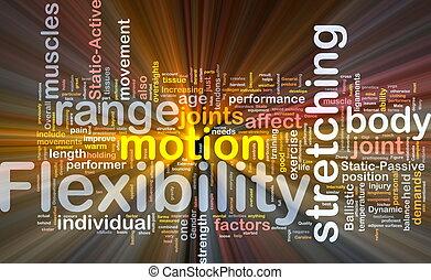 El concepto de la flexibilidad de fondo brilla