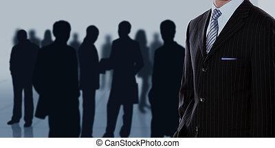 El concepto de la gente de negocios