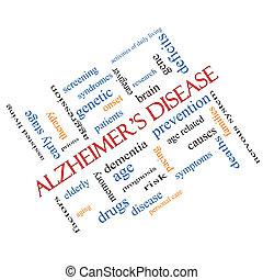 El concepto de la nube de la enfermedad de Alzheimer en ángulo