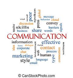 El concepto de la palabra de comunicación nube