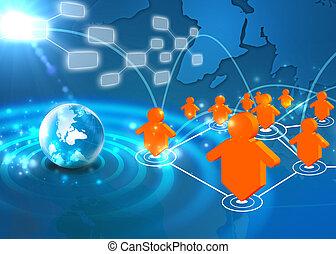 El concepto de la red social tecnológica