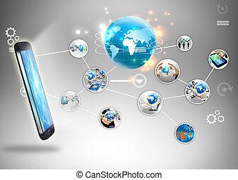 El concepto de las redes sociales.