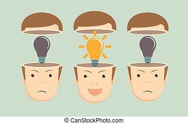 El concepto de liderazgo con una multitud de empresarios