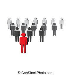 El concepto de liderazgo del vector