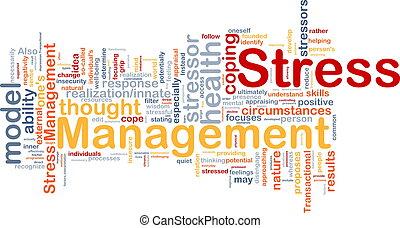 El concepto de manejo de estrés