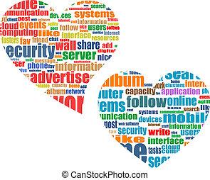 El concepto de marketing social de los medios de comunicación en el corazón
