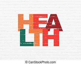 El concepto de medicina: salud en el fondo de la pared