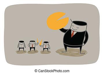 El concepto de mercado monopolio de hombres de negocios