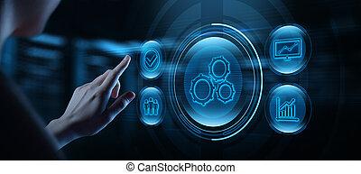 El concepto de negocio de software de automatización