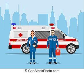 El concepto de primeros auxilios de la ambulancia
