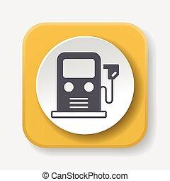 El concepto de protección ambiental de uso de icono de gasolina