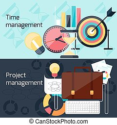 El concepto de proyecto y gestión temporal de diseño plano
