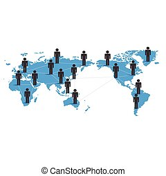 El concepto de red de negocios global