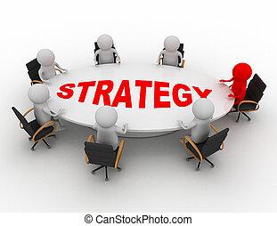 El concepto de reunión de negocios
