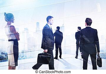El concepto de reunión y discusión