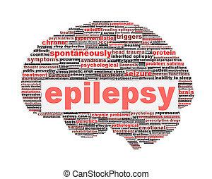 El concepto de símbolo epiléptico aislado en blanco