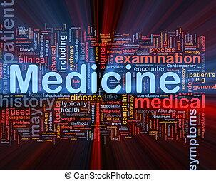 El concepto de salud médica brilla