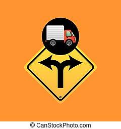 El concepto de señal de tráfico
