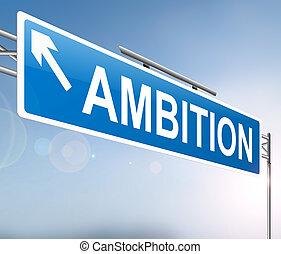 El concepto de signo de ambición.