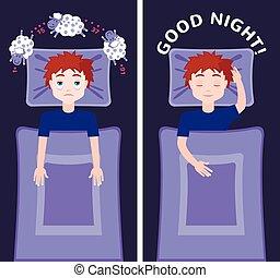 El concepto de sueño e insomnio.