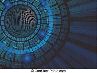 El concepto de tecnología abstracta ilustración de vectores de fondo