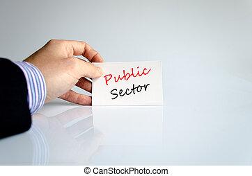 El concepto de texto del sector público