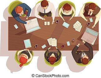 El concepto de top View de los negocios