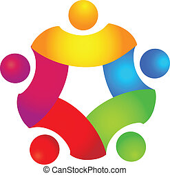 El concepto de trabajo en equipo en 5 colores
