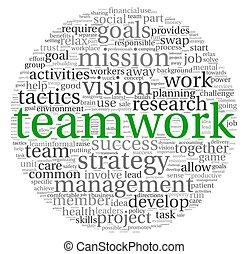 El concepto de trabajo en equipo en las nubes