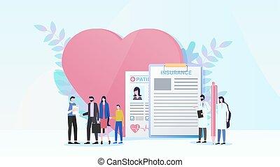 El concepto de vector del seguro de salud familiar