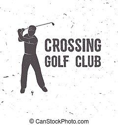 El concepto del club de golf con la silueta del golfista.