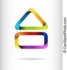 El concepto del diseño del arco iris