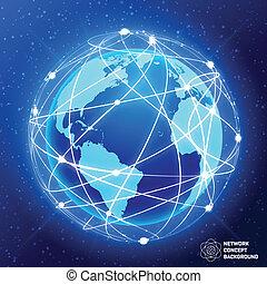 El concepto del globo de red