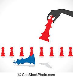 El concepto del juego de ajedrez
