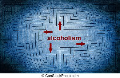 El concepto del laberinto de alcoholismo