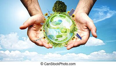 El concepto del mundo verde