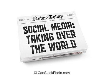 El concepto del periódico de los medios sociales