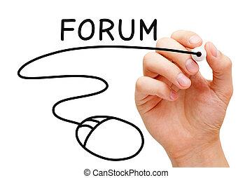 El concepto del ratón Forum
