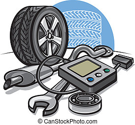 El concepto del servicio de autos