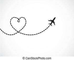 El concepto del viaje del amor