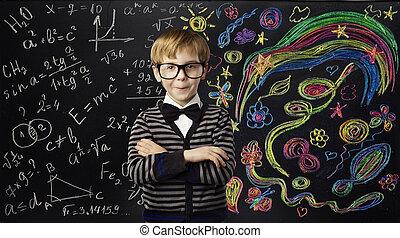 El concepto educativo de la creatividad infantil, la fórmula de las matemáticas del arte, las ideas de los niños