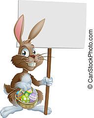El conejo de Pascua tiene una señal