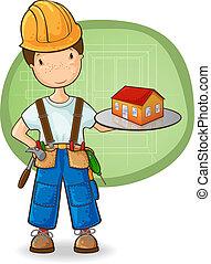El constructor tiene una casa pequeña