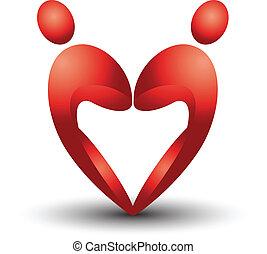 El corazón calcula vector Eps10